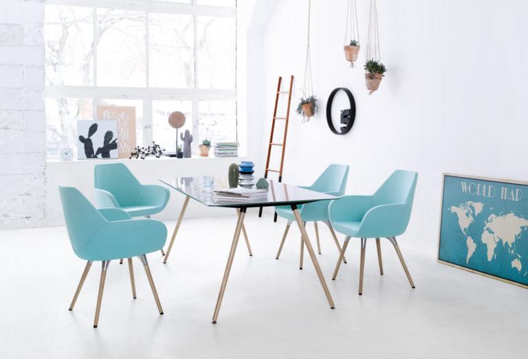 Fan fotele do przestrzeni biurowych, urzędów, banków Producent: Profim, Dystrybutor: Vipservice