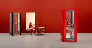 Space S kabiny akustyczne do biur, kabiny do rozmów telefonicznych. Producent: MuteDesign Dystrybutor: Vipservice