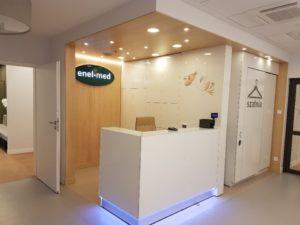 Vipservice realizacja - wyposażenie Przychodni medycznej ENEL-MED Galeria Północna Warszawa