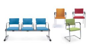 Kala krzesła i ławki do sal konferencyjnych i audytoryjnych. Producent: Profim, Dystrybutor: Vipservice