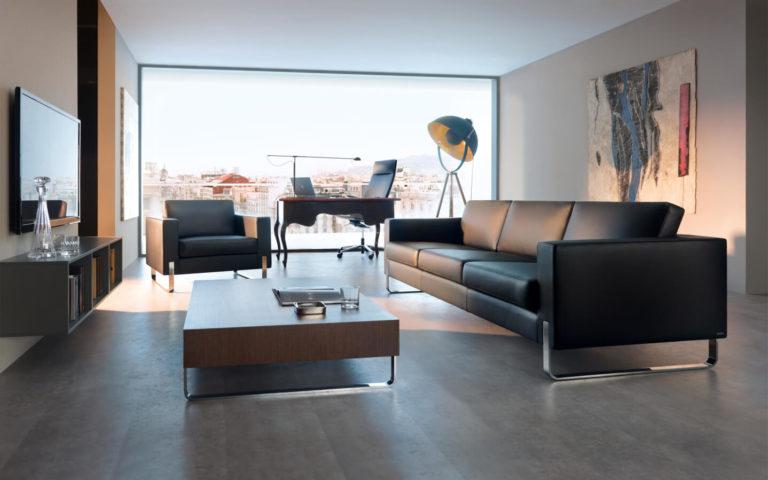 MyTurn kolekcja sof, stolików, foteli do wnętrz gabinetowych i luksusowych stref lounge. Producent: Profim Dystrybutor: Vipservice