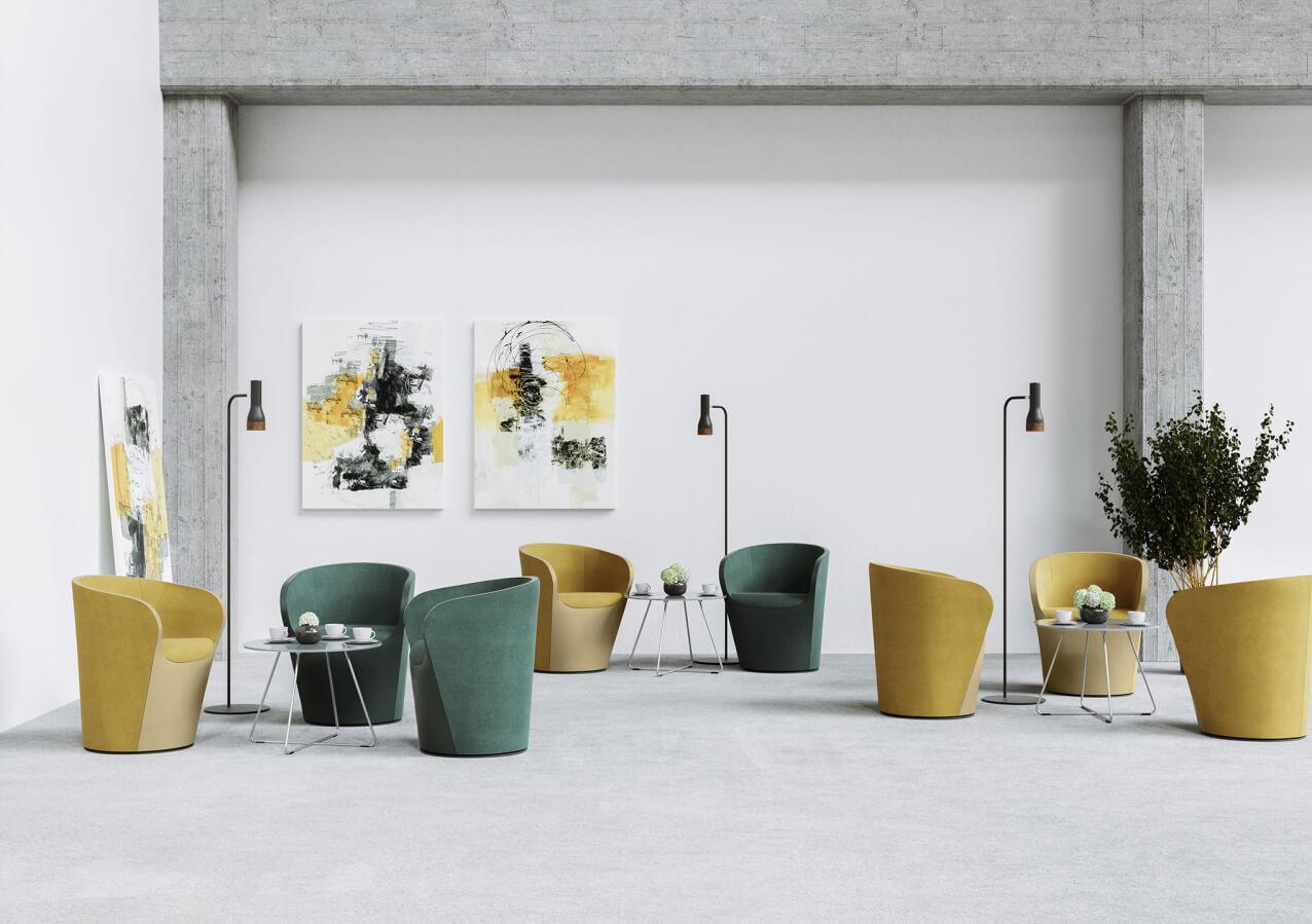 Kolekcja foteli Nu Spin do biur i przestrzeni chillout. Producent: Profim Dystrybutor: Vipservice