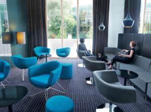 Sorriso fotele do biur, kawiarni, recepcji. Producent: Profim Dystrybutor: Vipservice