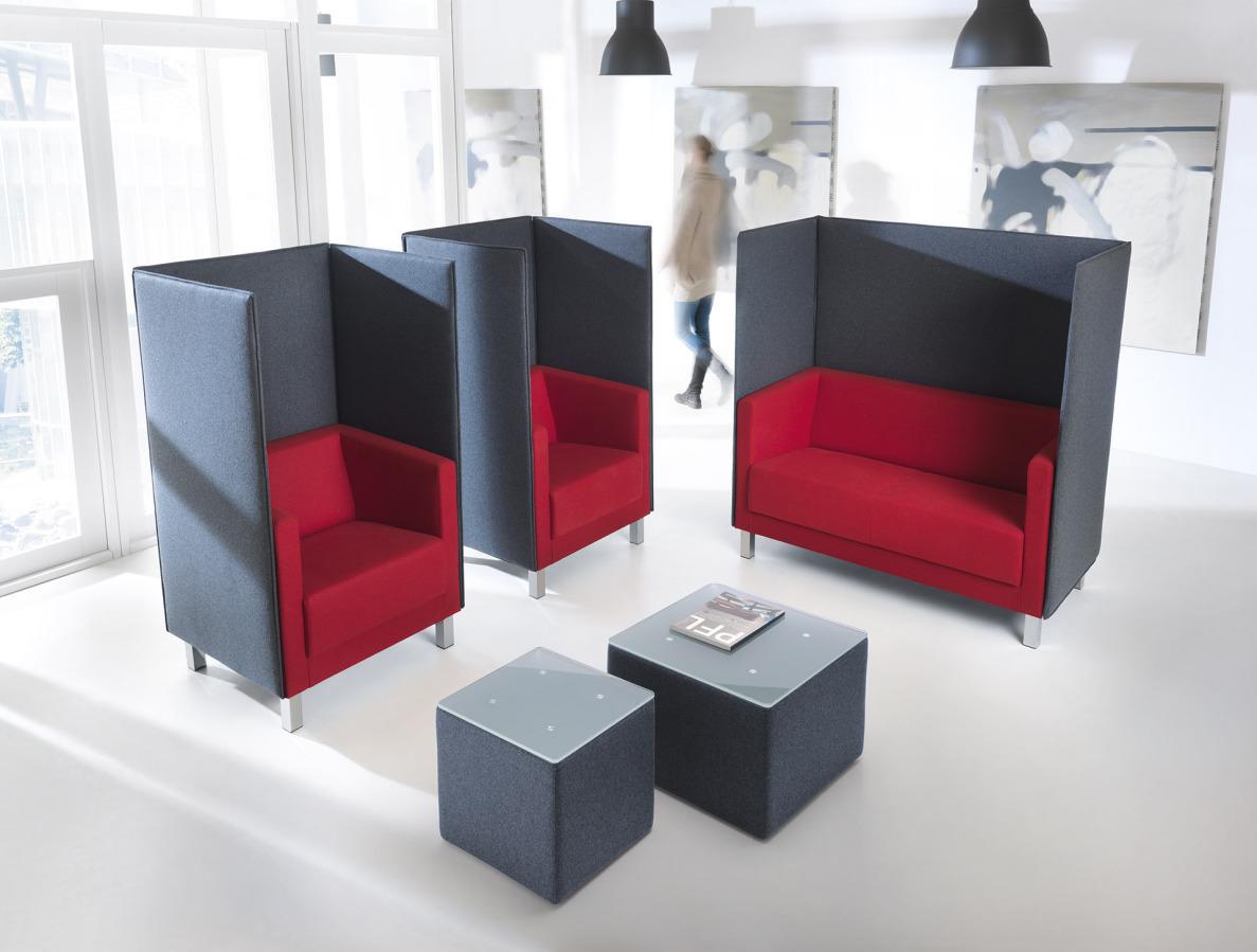 Vancouver Lite - kolekcja minimalistycznych, kubicznych sof i foteli do biur. Producent: Profim Dystrybutor: Vipservice
