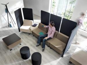 Wall In kolekcja mebli modułowych do przestrzeni biurowych, holi, lounge, open space. Producent: Profim Dystrybutor: Vipservice