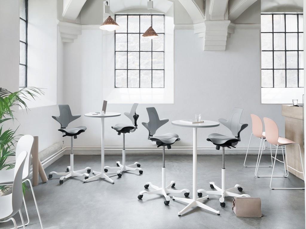 Krzesło HAG Capisco Plus - Producent: Flokk, Dystrybutor: Vipservice. Ergonomiczne, designerskie krzesło do biur