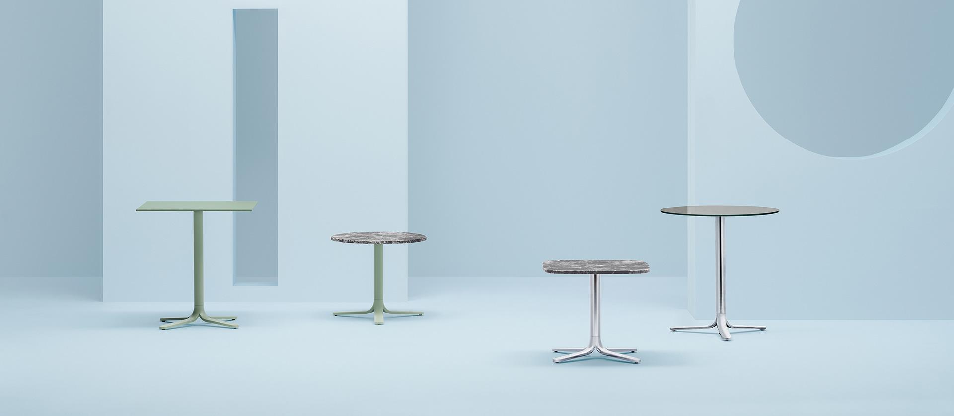 Stolik Fluxo - Producent: Pedrali, Dystrybutor: Vipservice - stolik o wszechstronnym zastosowaniu: do hoteli, restauracji, coffee point