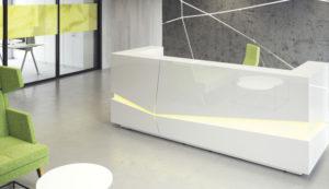 Lada recepcyjna Illusion - Producent: Wuteh, Dystrybutor: Vipservice - designerska lada do przestrzeni recepcyjnej
