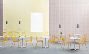 Krzesło Nolita Producent: Pedrali; Dystrybutor: Vipservice - krzesła i fotele do stosowania na zewnątrz - w restauracjach, hotelach, biurowych patio