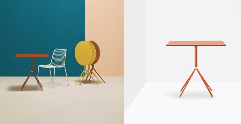 Stolik Nolita - Producent: Pedrali, Dystrybutor: Vipservice - stoliki do stosowania na zewnątrz - do ogrodów, restauracji, hoteli