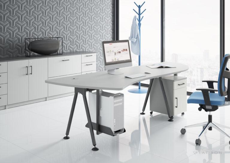 Biurko Geos - Producent: Wuteh, Dystrybutor: Vipservice, wszechstronne biurko pracownicze i gabinetowe